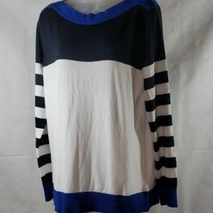Michael Kors Boatneck Color Block Sweater